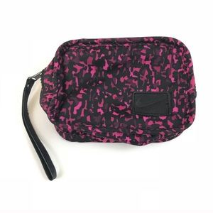 Nike Bags - Nike Wristlet Makeup Travel Clutch Pink Black Camo